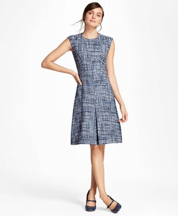 WX00442_BLUE-MULTI - Φόρεμα από Ιταλικό Boucle - 100095683 - 395