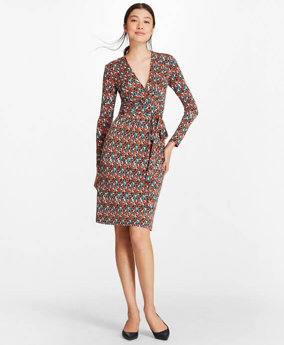 WX00475_NAVY-MULTI_3 - Φόρεμα από Πολυεστέρα και Sapndex, με το σύμβολο B - 100104408 - 220