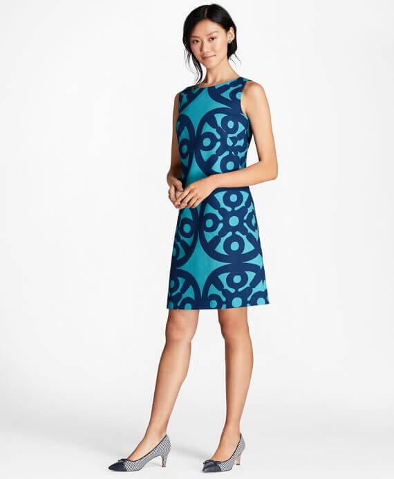 SX00143_TEAL - Βαμβακερό Φόρεμα από Βαμβάκι Stretch - 00000100103378 - 190